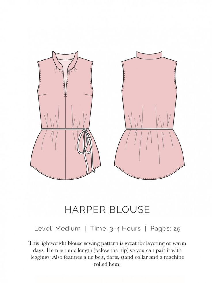 Harper Blouse Flat this site has a ton of great FREE patterns! I want to try them all!!!
