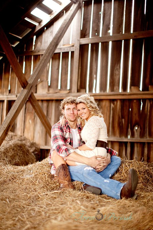 Hayloft Engagement Pic