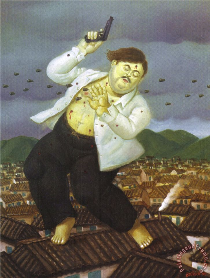Death of Pablo Escobar Painting by fernando botero
