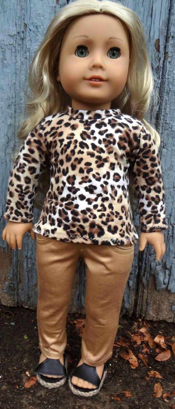 Hey, I found this really awesome Etsy listing at https://www.etsy.com/listing/239676475/american-girl-doll-animal-print-tee-and