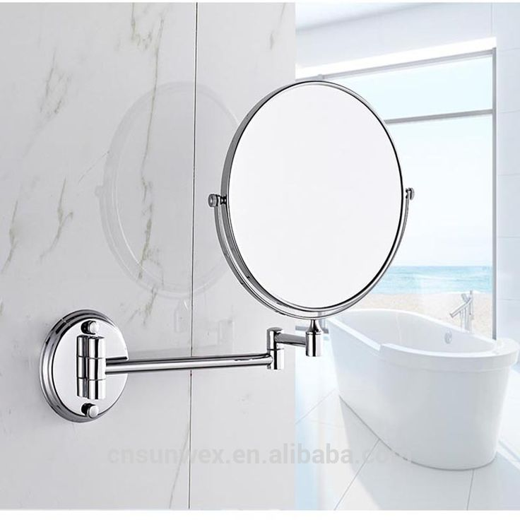 Wall Mounted Bathroom Folding Extendable Cosmetic Mirror with 3X magnification Shaving Mirror Magnifying Mirror