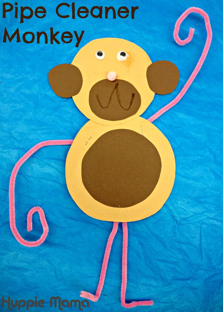 Zoo Crafts for Toddlers | Idea for the Pipe Cleaner Monkey came from local Sticky Fingers art ...