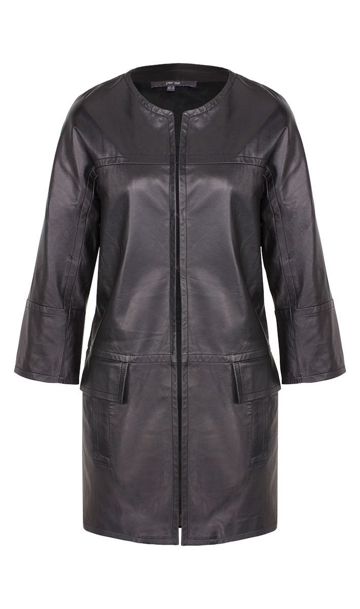 Roulette black leather jacket | Carlisle Collection | Per Se | Collections | Lookbook | Per Se | Holiday 2013 | 2