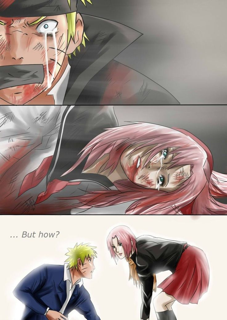 Can't say I hate seeing Sakura beat up...but poor Naruto!