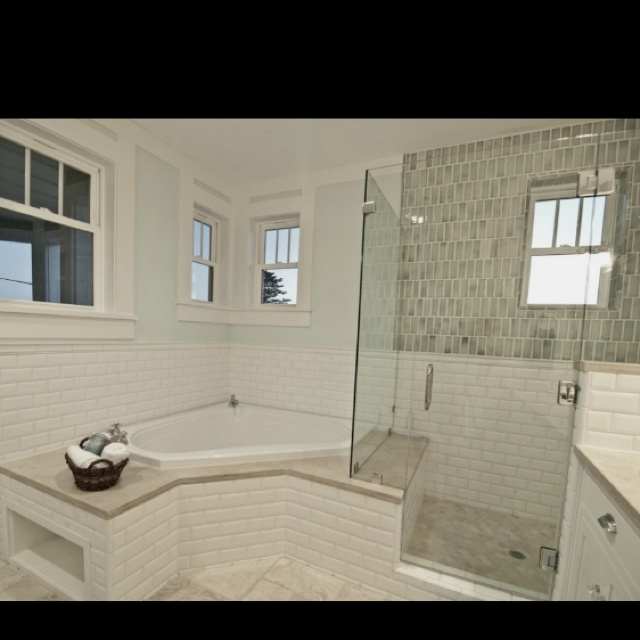 similar configuration with glass shower stall bathroom