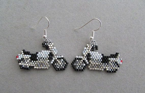 Motorcycle Earrings in delica seed beads on Etsy, $20.00 is creative inspiration for us. Get more photo about home decor related with by looking at photos gallery at the bottom of this page. We are want to say thanks if you like to share this post to another people via …
