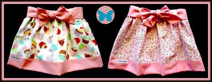 Shizam Designs www.facebook.com/ShizamDesigns Reversible Skirt Elastic waist and waist tie for cinching