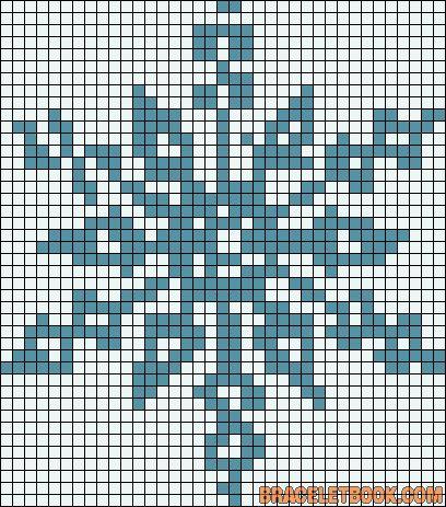 Winter snowflake perler bead pattern