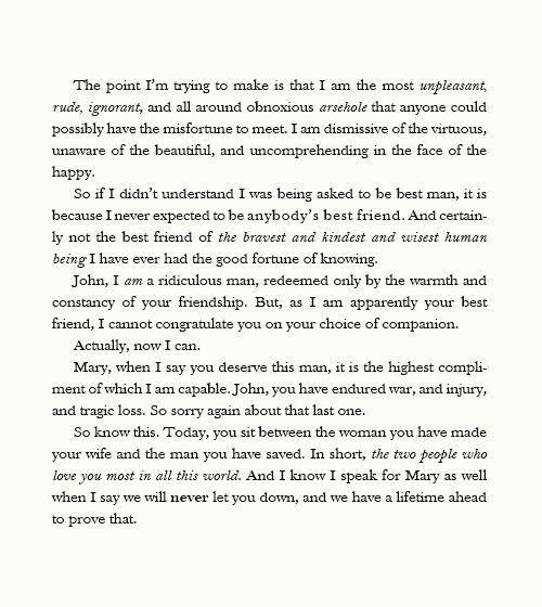 Sherlock's Best Man Speech. Excuse The Language.