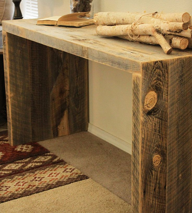 Reclaimed Wood Console Table | Home Furniture | J W Atlas Wood Company | Scoutmob Shoppe | Product Detail