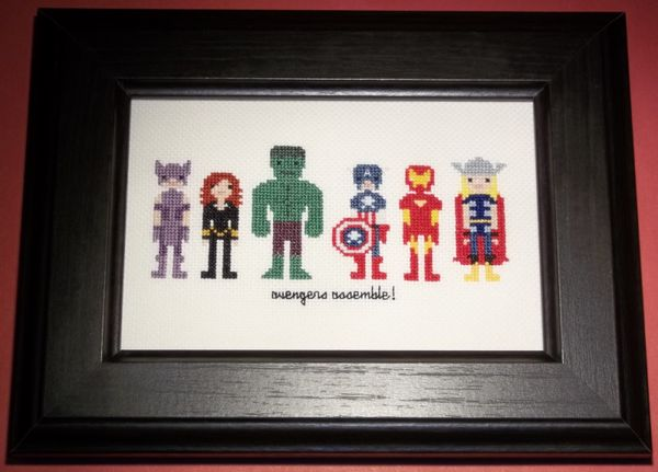 super hero cross stitch: Crosses Stitches Embroidered, Crossstitch, Avengers Crosses, Avengers Assembl, Assembl Crosses, Stitches Ideas, Heroes Crosses, Super Heroes, Cross Stitches