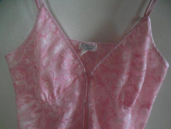 Sheer pink camisole cami pink cami sheer by TillieLuvsTreasures