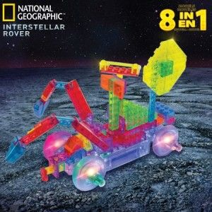 National Geographic 8 Models in 1 Interstellar Rover Light-up interlocking brick set for building 8 different exploration models.