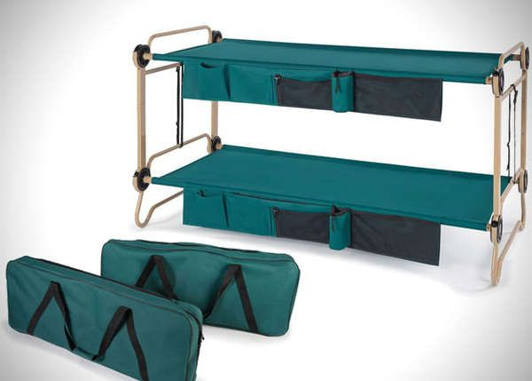 Foldable bunk cot