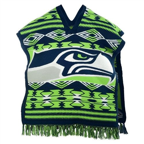 Seattle Seahawks NFL Football Team Logo Unisex Poncho