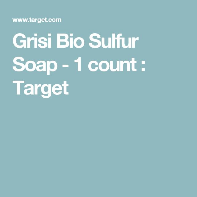 Grisi Bio Sulfur Soap - 1 count : Target