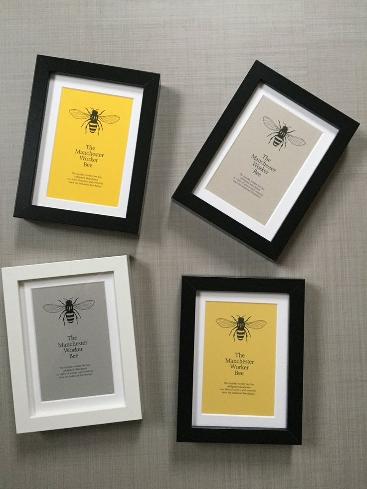 Manchester Worker Bee Framed Print Taken from an original design by fingsMCR - this is our interpretation of the Manchester Worker Bee which is the...