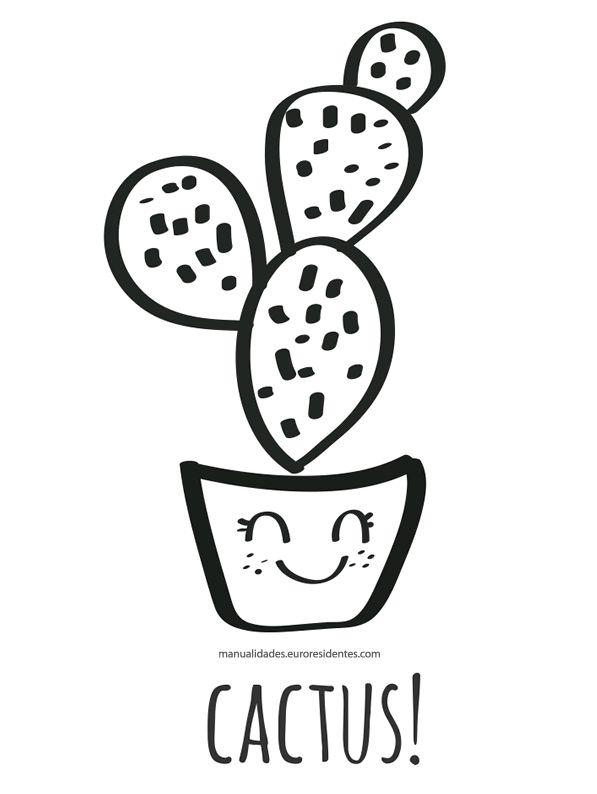 Printable cactus. Dibujos de cactus para imprimir