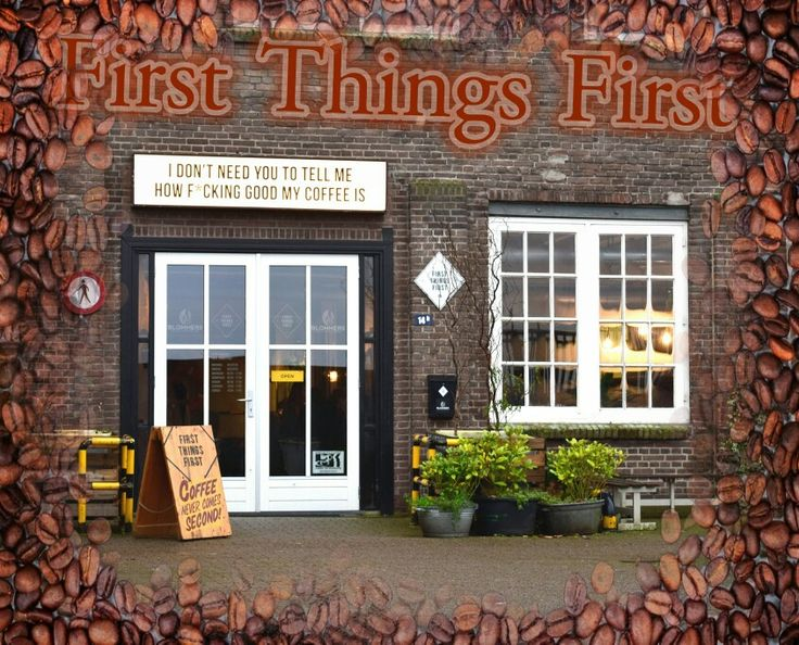 """The best coffee by """"First Things First"""", Honigcomplex, Nijmegen."""