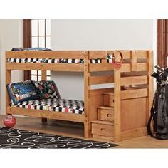 Bedz King Twin Over Full Bunk Bed with Drawer & Reviews | Wayfair