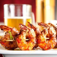 The Definitive Way to Grill ShrimpChicken Recipe, Backyards Bbq, Seafood, Beer Soak, Cilantro Lime, Prawn Recipe, Garlic Shrimp, Shrimp Recipes, Grilled Shrimp