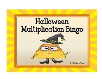 FREE Halloween Multiplication Bingo!
