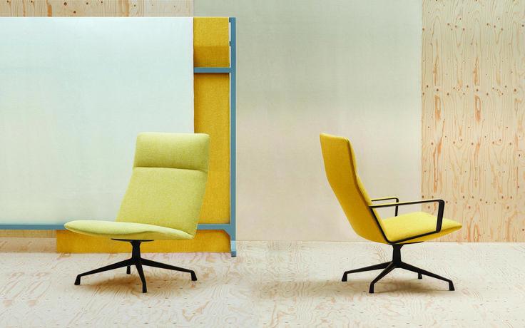 Andreu World armchair dressed in Kvadrat