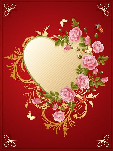 1134 best images about my - Pink roses and hearts wallpaper ...