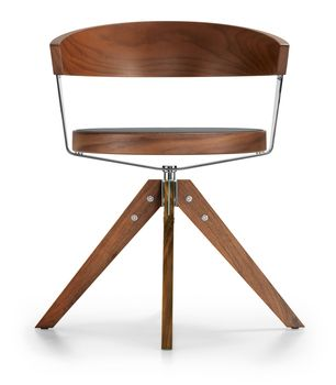 G 125 Wooden Swivel Chair manufactured by Girsberg Holding AG. (Red dot award…
