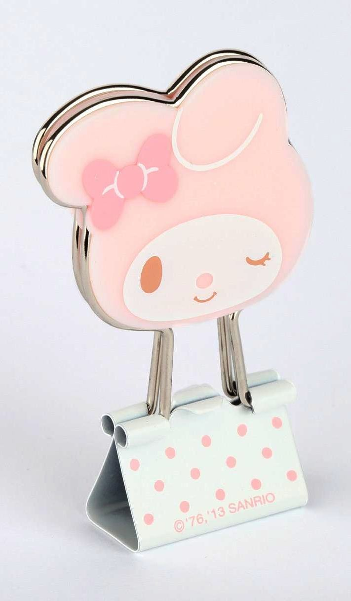 HK |❣| HELLO KITTY's Friend My Melody Die-Cut Binder Clips