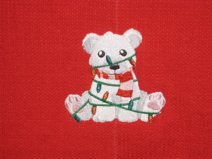 Embroidered for granddaughter.  Towel was bought from embroiderthis.com and the design is from emblibrary.com
