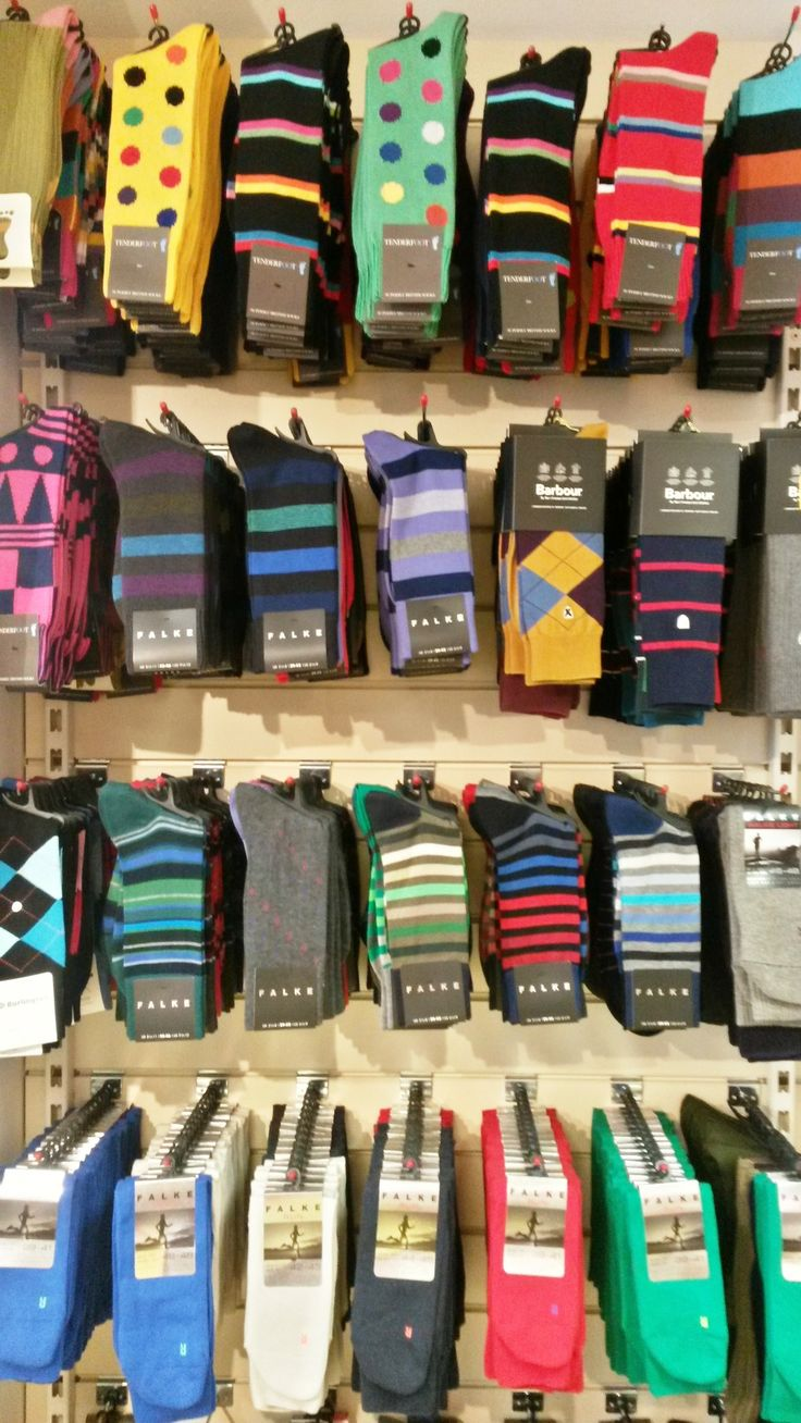 Socks! Every man needs them and what could be more cheerful that these colourful beauties. Silly socks for happy feet - from just £9.50 a pair at Luck of Louth. — at Luck of Louth.