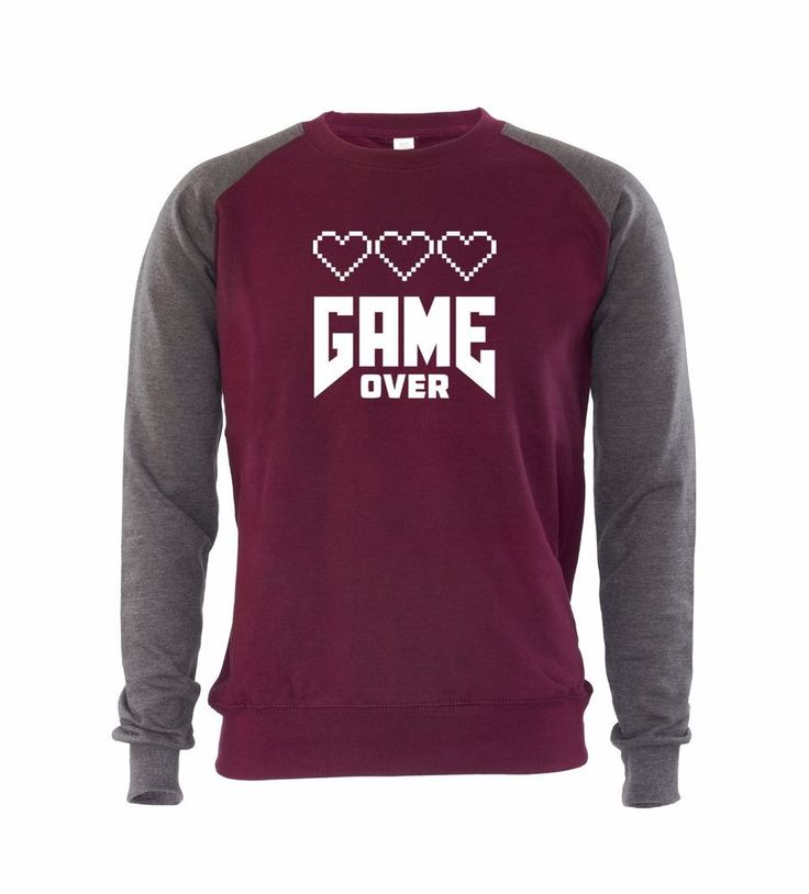 £19.99 Love Game Over Mens Sweatshirt Jumper Console Game Gaming Video Gamer Gift Idea #GET2WEAR #Sweatshirt #gamer #games #videogames #gamer #gaming #gifts #sweatshirt