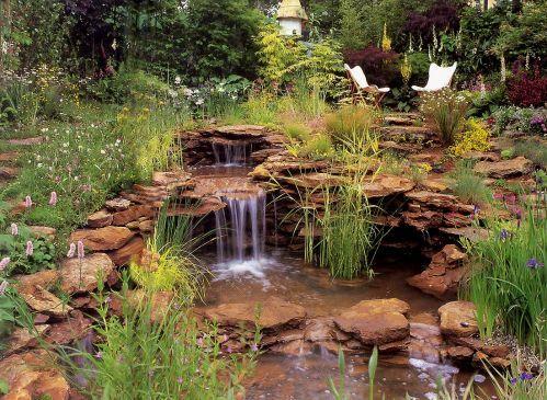 Florapack Kertészet - Kerti tó, fűrdőtó - fotók/SZIKLÁS VÍZESÉS
