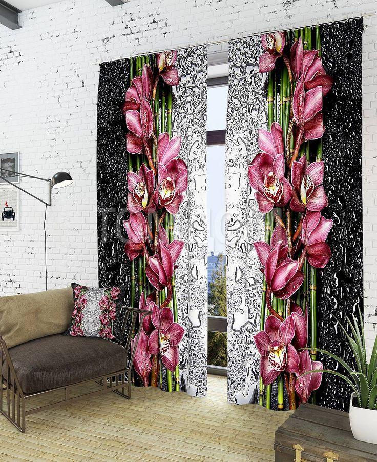 """Комплект штор """"Монар"""": купить комплект штор в интернет-магазине ТОМДОМ #томдом #curtains #шторы #interior #дизайнинтерьера"""