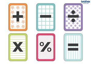 Flitskaarten van rekensymbolen