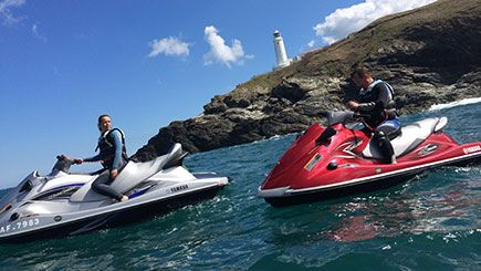 The ultimate aquatic adventure, soak in the sights of Newquay and Lusty Bay from the seat of a mighty Yamaha Waverunner.