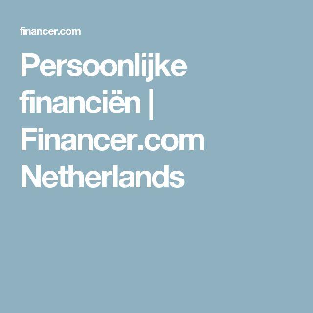 Persoonlijke financiën | Financer.com Netherlands
