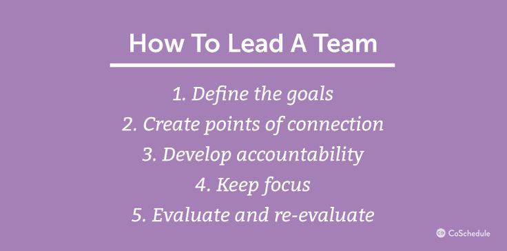 cross functional team leadership - CoSchedule
