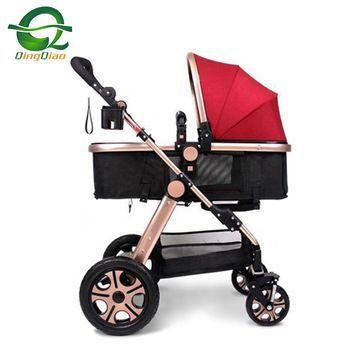 Klappbarer roter Kinderwagen für den neugeborenen Kinderwagen 3 in 1 mit Tragetasche und Auto…