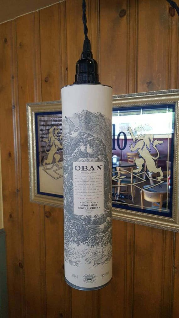 Oban whisky pendant down light by rePOURposed on Etsy