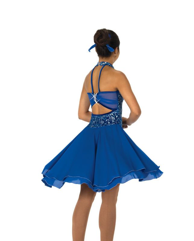 New Jerrys Competition Skating Dress 127 Dance the Blues Made on Order | eBay