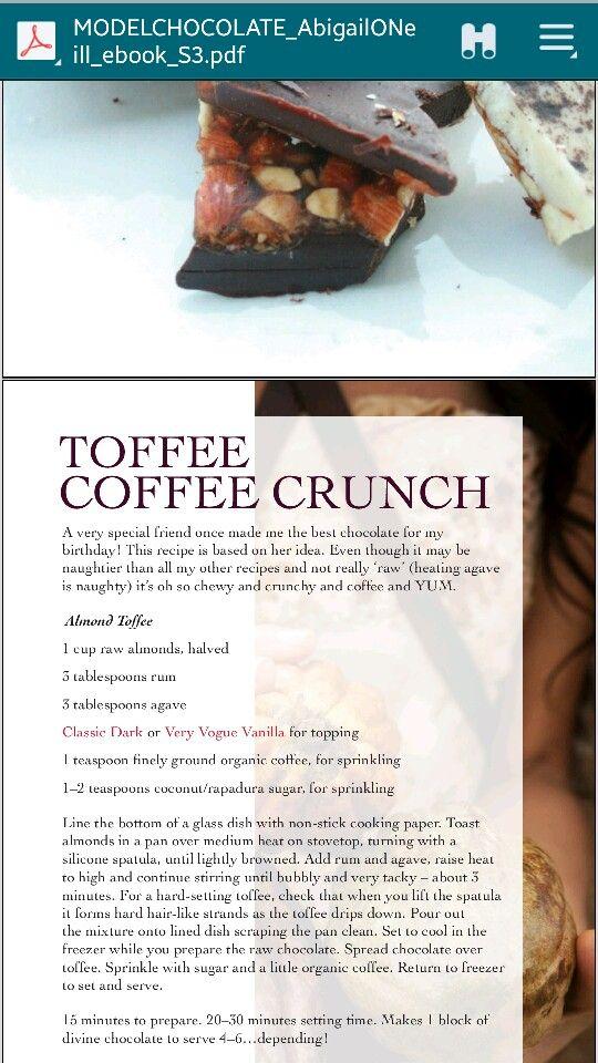 Toffee coffee crunch
