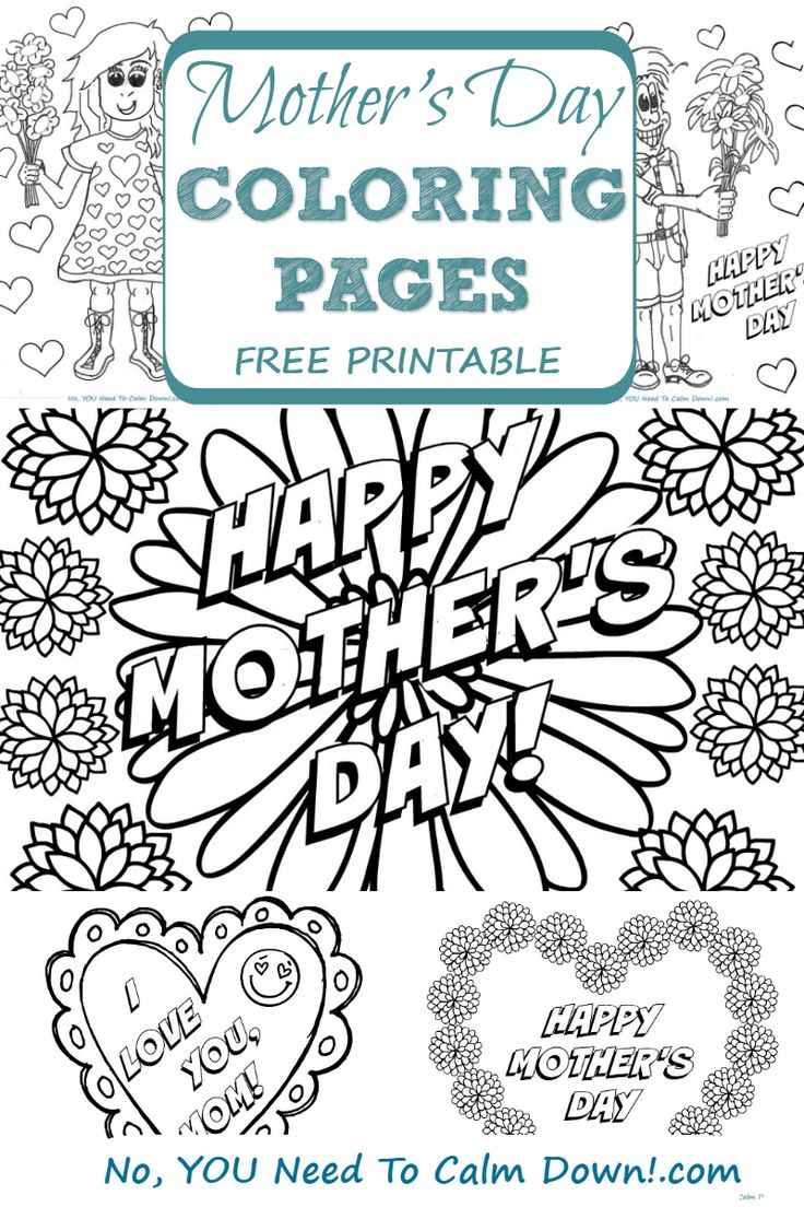 Free printable coloring pages mothers day - Mother S Day Coloring Pages For Kids Free Printables
