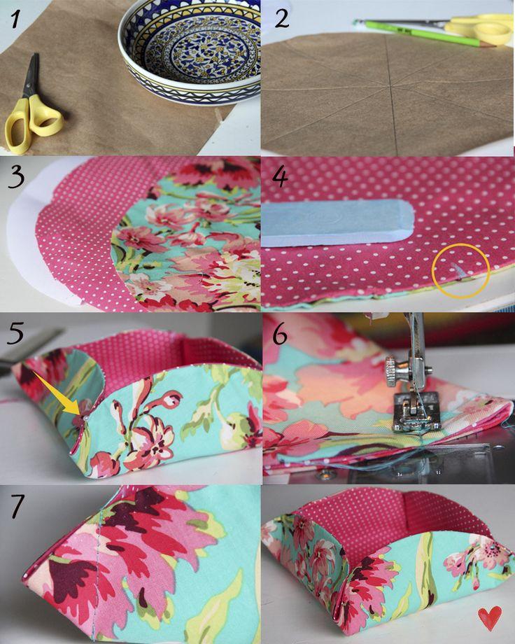 Caixinha de tecido - tutorial