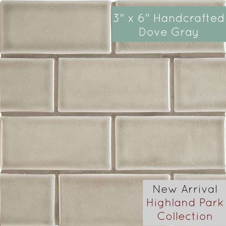 Best Handcrafted Dove Gray 3 X 6 Highland Park Crackle 400 x 300