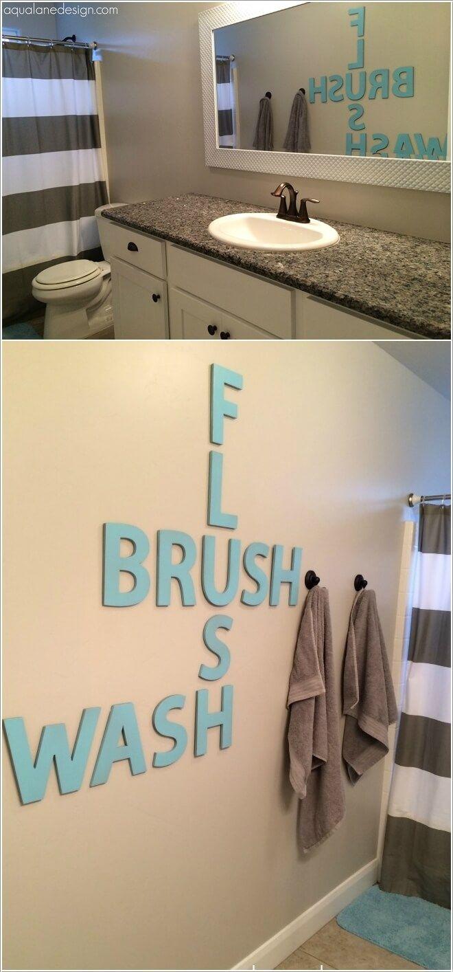10 Creative Diy Bathroom Wall Decor Ideas Diy Bathroom Decor