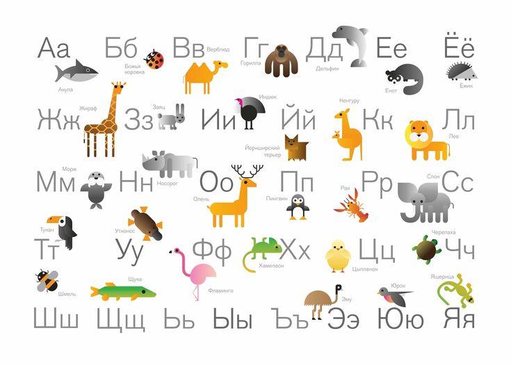 Постер в тубусе «Большой звериный алфавит»