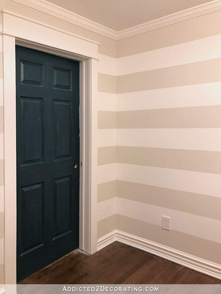 Stripes In The Hallway! (Plus, How To Paint Perfect Stripes On The Wall)