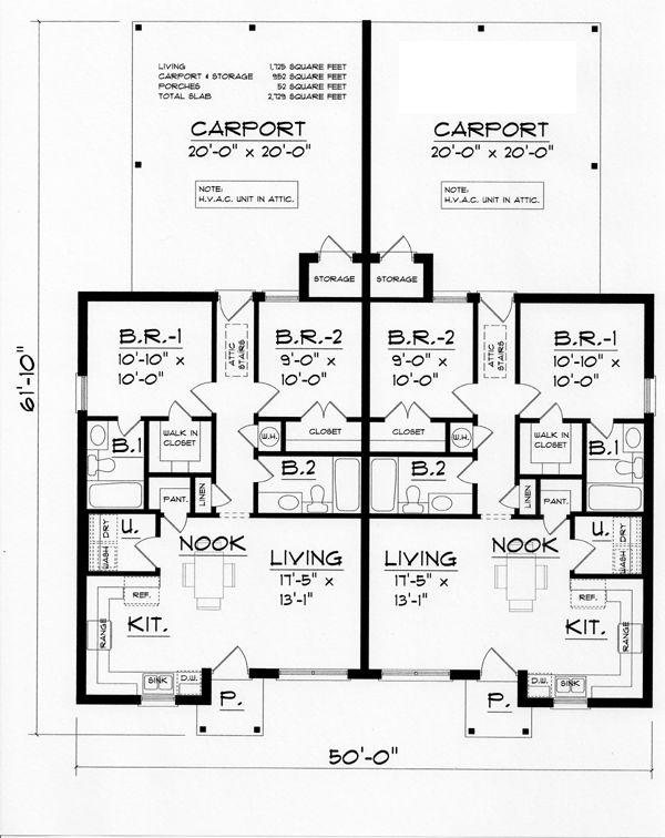 Cool House Plans Triplex House Plans